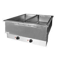APW Wyott HFWAT-3 Insulated Three Pan Drop In Hot Food Well with Attached Controls and Plug
