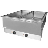 APW Wyott HFWAT-3D Insulated Three Pan Drop In Hot Food Well with Drain and Attached Controls and Plug