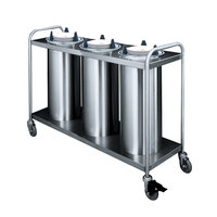 APW Wyott HTL3-7 Trendline Mobile Heated Three Tube Dish Dispenser for 6 5/8 inch to 7 1/4 inch Dishes