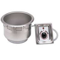 APW Wyott SM-50-7 UL High Performance 7 Qt. Round Drop In Soup Well with UL Electrical Kit