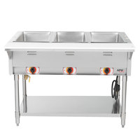 APW Wyott SST3S Stationary Steam Table - Three Pan - Sealed Well