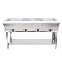 APW Wyott SST4 Stationary Steam Table - Four Pan - Sealed Well