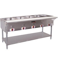 APW Wyott SST5 Stationary Steam Table - Five Pan - Sealed Well
