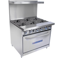 Bakers Pride Restaurant Series 36-BP-6B-S30 6 Burner Gas Range with Standard 30 inch Oven