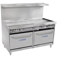 Bakers Pride Restaurant Series 60-BP-0B-G60-S26 Gas Range with Two Standard 26 inch Ovens and 60 inch Griddle