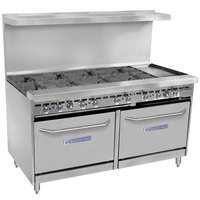 Bakers Pride Restaurant Series 60-BP-8B-G12-S26 8 Burner Gas Range with Two Standard 26 inch Ovens and 12 inch Griddle