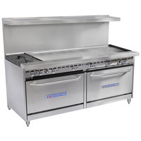 Bakers Pride Restaurant Series 72-BP-2B-G60-S30 2 Burner Gas Range with Two Standard 30 inch Ovens and 60 inch Griddle