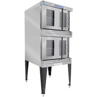 Bakers Pride BPCV-E2 Restaurant Series Bakery Depth Double Deck Full Size Electric Convection Oven - 10500W