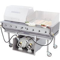 Bakers Pride CBBQ-60S-CP 60 inch Ultimate Outdoor Gas Charbroiler with Tank Caddy and Grill Cover Accessories