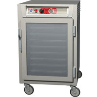 Metro C565-SFC-UPFC C5 6 Series Half-Height Reach-In Pass-Through Heated Holding Cabinet - Clear Doors