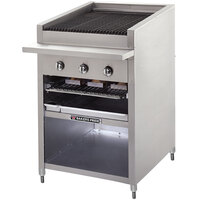 Bakers Pride F-30GS 30 inch Gas Floor Model Glo Stone Charbroiler - 108,000 BTU