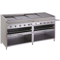 Bakers Pride F-72R 72 inch Gas Floor Model Radiant Charbroiler - 306,000 BTU