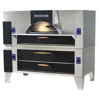 Bakers Pride FC-816/Y-800BL Brick Lined IL Forno Classico Gas Double Deck Oven - 66 inch