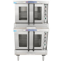 Bakers Pride GDCO-G2 Cyclone Series Double Deck Full Size Gas Convection Oven - 120,000 BTU