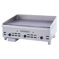 Bakers Pride HDMG-2424 Heavy Duty 24 inch Countertop Griddle with Manual Controls Gas