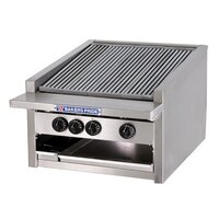 Bakers Pride L-30GS 30 inch Low Profile Gas Glo Stone Charbroiler - 108,000 BTU