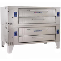 Bakers Pride Y-602 Super Deck Y Series Gas Double Deck Pizza Oven 60 inch - 240,000 BTU