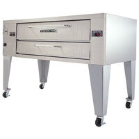 Bakers Pride Y-800BL Super Deck Y Series Brick Lined Gas Single Deck Pizza Oven 66 inch - 120,000 BTU