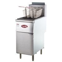 Avantco FF400 50 lb. Stainless Steel Floor Fryer - 4 Tubes, 120,000 BTU