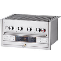 Crown Verity BI-30 30 inch Stainless Steel Built-In Outdoor BBQ Grill / Charbroiler