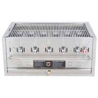 Crown Verity BI-36 36 inch Stainless Steel Built In Outdoor BBQ Grill / Charbroiler