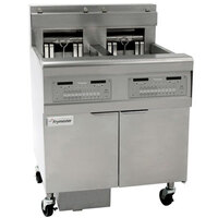 Frymaster FPEL314-6CA Electric Floor Fryer with Three Split Frypots and Automatic Top Off - 14 kW