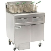 Frymaster FPGL230-2LCA Gas Floor Fryer with Full Right Frypot / Left Split Pot and Automatic Top Off - 150,000 BTU
