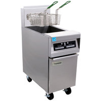 Frymaster PH155-2 High Efficiency Gas Split Pot Fryer 50 lb. - 80,000 BTU