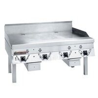 Garland CG-60R-01 60 inch Master Gas Production Griddle with Thermostatic Controls - 150,000 BTU
