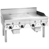 Garland CG-72R-01 72 inch Master Series Gas Production Griddle with Thermostatic Controls - 180,000 BTU