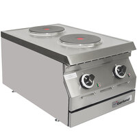 Garland ED-15HSE Designer Series 15 inch Two Solid Burner Electric Countertop Hot Plate - 5.2 kW