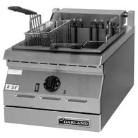 Garland ED-30SFT Designer Series 34 lb. Dual Tank Electric Commercial Countertop Deep Fryer