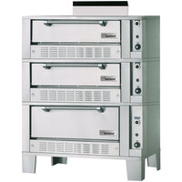 Garland G2121-72 55 1/4 inch Triple Deck Gas Roast / Bake Oven - 120,000 BTU