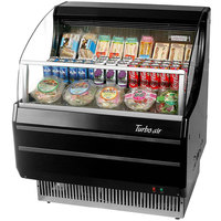 Turbo Air TOM-30SB Black 28 inch Slim Line Horizontal Air Curtain Display Case - 4.6 Cu. Ft.