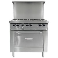 Garland G36-2G24R 2 Burner 36 inch Gas Range with 24 inch Griddle and Standard Oven - 140,000 BTU