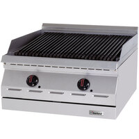 Garland GD-24RBFF Designer Series 24 inch Radiant Charbroiler with Flame Failure Protection - 60,000 BTU