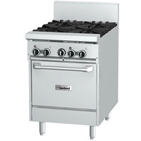 Garland GF24-4L 4 Burner 24 inch Gas Range with Flame Failure Protection and Space Saver Oven - 136,000 BTU