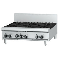Garland GF36-4G12T 4 Burner Modular Top 36 inch Gas Range with Flame Failure Protection and 12 inch Griddle - 122,000 BTU