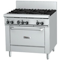 Garland GF36-G36R 36 inch Gas Range with Flame Failure Protection, 36 inch Griddle, and Standard Oven - 92,000 BTU