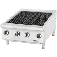 Garland GTBG24-NR24 24 inch Radiant Charbroiler with Fixed Grates - 72,000 BTU