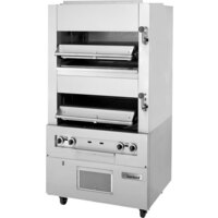 Garland M110XM Master Series Heavy-Duty Upright Infrared Broiler with Two Broiling Chambers - 140,000 BTU
