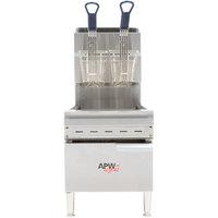 APW Wyott APWF-15C Natural Gas 15 lb. Countertop Fryer - 40,000 BTU