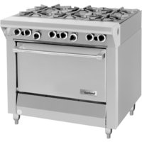 Garland M43S Master Series 6 Burner 34 inch Gas Range with Storage Base - 144,000 BTU