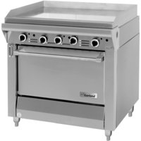 Garland M47R Master Series 34 inch Gas Griddle with Standard Oven - 139,000 BTU (Manual Controls)