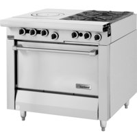 Garland M54R Master Series 2 Burner 34 inch Gas Range with Front Fired Hot Top and Standard Oven - 155,000 BTU