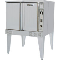 Garland SunFire Series SCO-GS-10S Single Deck Full Size Gas Convection Oven with 2 Speed Fan and Interior Lights - 53,000 BTU