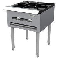 Garland SP-1844-2 Double Countertop Stock Pot Stove with 6 inch Legs - 90,000 BTU