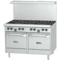U.S. Range U48-8LL 8 Burner 48 inch Gas Range with 2 Space Saver Ovens - 320,000 BTU