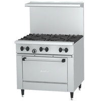 Garland SunFire Series X36-2G24R 2 Burner Gas Range with 24 inch Griddle and Standard Oven