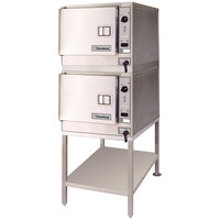 Cleveland (2) 22CET3.1 SteamChef 3 Double Deck 6 Pan Electric Floor Steamer - 24 kW